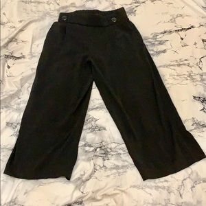 Zara black wide leg pants size M with pockets